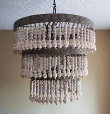 wood bead ceiling light diy chandeliers interior amazing ceiling light wood bead chandelier