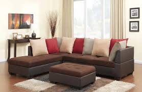 microfiber sectional with ottoman traditional chocolate microfiber and leather sectional with ottoman
