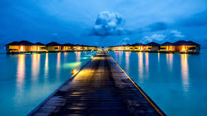 sea pier ls tropical maledives evening vacation