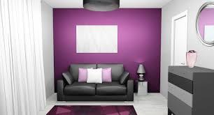 chambre grise et violette deco chambre violette