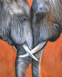 items similar to original animal painting acrylic painting elephants painting wildlife decor original artwork animal painting on