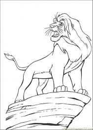 lion king coloring pages kids interesting cliparts