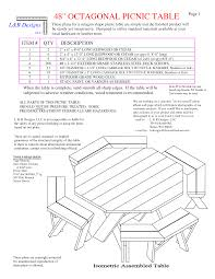 Octagon Patio Table Plans Picnic Table Free Octagon Walk In Picnic Table Plans Free Octagon