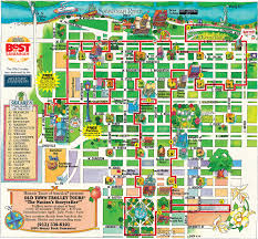 Garden District New Orleans Walking Tour Map by Maps Update 13681267 Savannah Ga Tourist Attractions Map