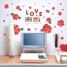 popular baby nursery wall stickers frames buy cheap baby nursery red roses flowers photo frames wall decal home sticker paper removable art picture diy murals kids