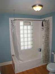 mosaic glass door bathroom design ideas modern small bathroom black tile floor