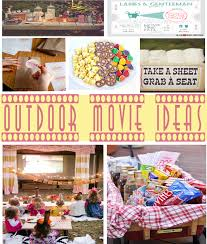 Backyard Movie Party Ideas by Outdoor Movie Ideas Sweetly Chic Events U0026 Design