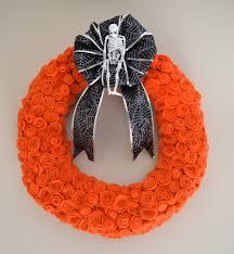 halloween wreaths diy halloween felt rose wreath