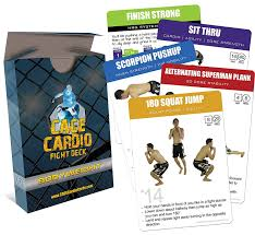 How To Do Cardio In A Small Space Amazon Com Cage Cardio Bodyweight Fight Deck Workout Cards For
