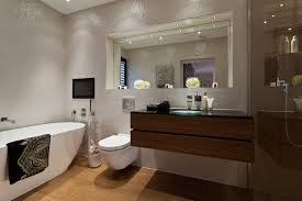 Recessed Bathroom Mirrors | c p hart case study bayview house contemporary bathroom