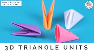 3d origami triangle units for modular origami origamitree com