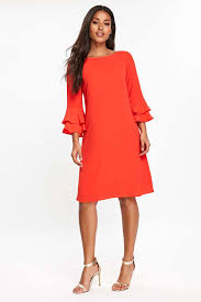 red flute sleeve shift dress sale dresses sale wallis