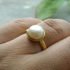 10mm ring buy 24k gold vermeil ring freshwater solitaire pearl ring 10mm