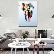 Elephant Decor For Home Discount Hand Painted Elephant Wall Art 2017 Hand Painted