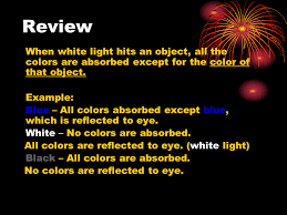 Visible Light Examples Visible Light And Color Presentation Physics Sliderbase
