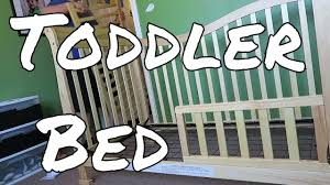 When To Turn Crib Into Toddler Bed Changing A Crib Into Toddler Bed