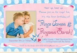 little princesses birthday invitations double princess party