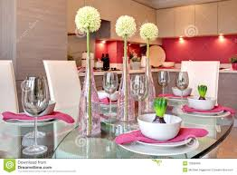 Contemporary Dining Table by Contemporary Dining Table Set For Dinner Royalty Free Stock Images