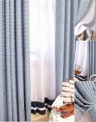 Blue And Striped Curtains Creative Of Blue Stripe Curtains Inspiration With Bluewhite