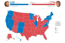 2016 Presidential Usa Election Prediction Electoral Map by Trump Wins Presidency In Stunning Upset Vows America Will U0027no