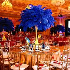 ostrich feather centerpiece royal blue ostrich feather centerpiece for wedding or banquet