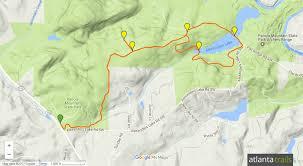 Map Of Georgia Lakes Panola Mountain Path Trail To Alexander Lake