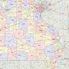 Missouri On Map Missouri Counties Wall Map Maps Com