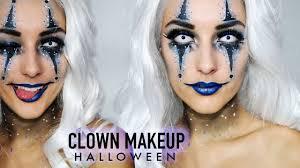 Halloween Makeup Clown by Blue Clown Halloween Makeup By Indy Youtube
