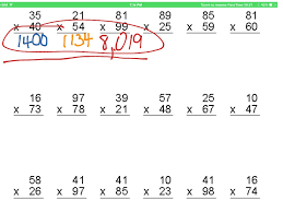 showme touch math multi digit multiplication