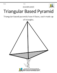 pyramid clipart triangular prism pencil and in color pyramid
