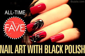 21 dazzling nail art designs with black nail polish