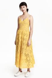 yellow dress lace dress yellow h m gb