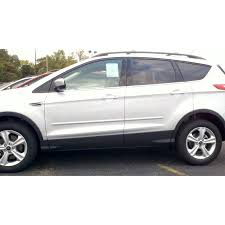 Ford Escape White - ford escape 2013 painted body side moldings spoiler and wing king