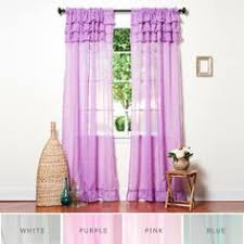 take a look at this black ruffle window curtain by lush décor on