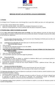 bureau de l at civil mariage devant les autorites locales gabonaises pdf