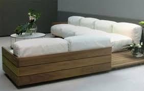 canap en palette en bois design chic palettes en bois mobilier intérieur canapé du salon