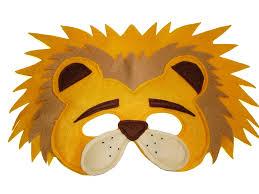lion mask children s safari animal lion felt mask