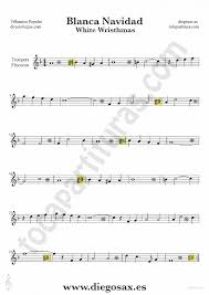 tubescore white christmas sheet music for trumpet and flugelhorn