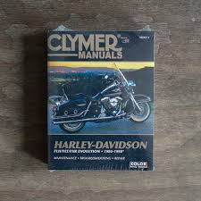 clymer manual m422 harley davidson flh flt fxr evolution 84 98