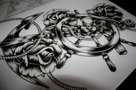 anchor with roses sketch photos pictures and sketches