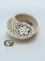 Crochet Patterns For Home Decor Crochet Pattern 6 Yin Yang Jewelry Dish Crochet Home