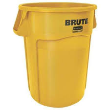 Yellow Wastebasket Stackable Trash Cans Trash U0026 Recycling The Home Depot