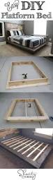 Simple Platform Bed Frame Plans by Best 25 Diy Platform Bed Ideas On Pinterest Diy Platform Bed