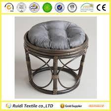Papasan Chair Cover Charcoal Grey Microsuede Papasan Chair Cushion Cover Round Stool