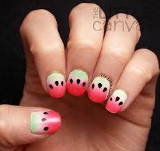 watermelon nail art the little canvas