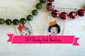 24 days of christmas crafts day 9 diy shrinky dink necklaces