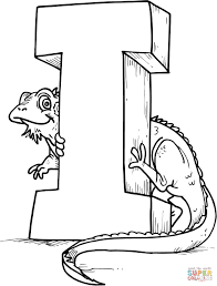 abc coloring pages for kids printable iguana coloring pages for kids printable archives best coloring page