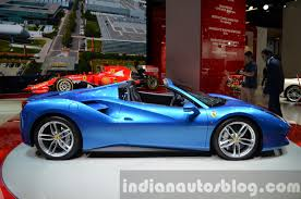 kia supercar ferrari 488 spider side at iaa 2015 indian autos blog