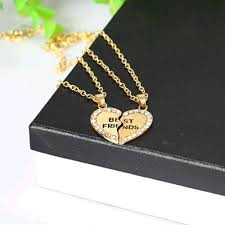 shaped necklace images Love your bestie gift her this heart shaped best friend necklace jpg