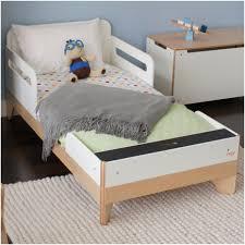 bedroom safety guardrails sodura aero white toddler bed modern